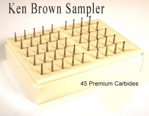 Ken Brown Bur Sampler includes 45 Premium Carbide Burs