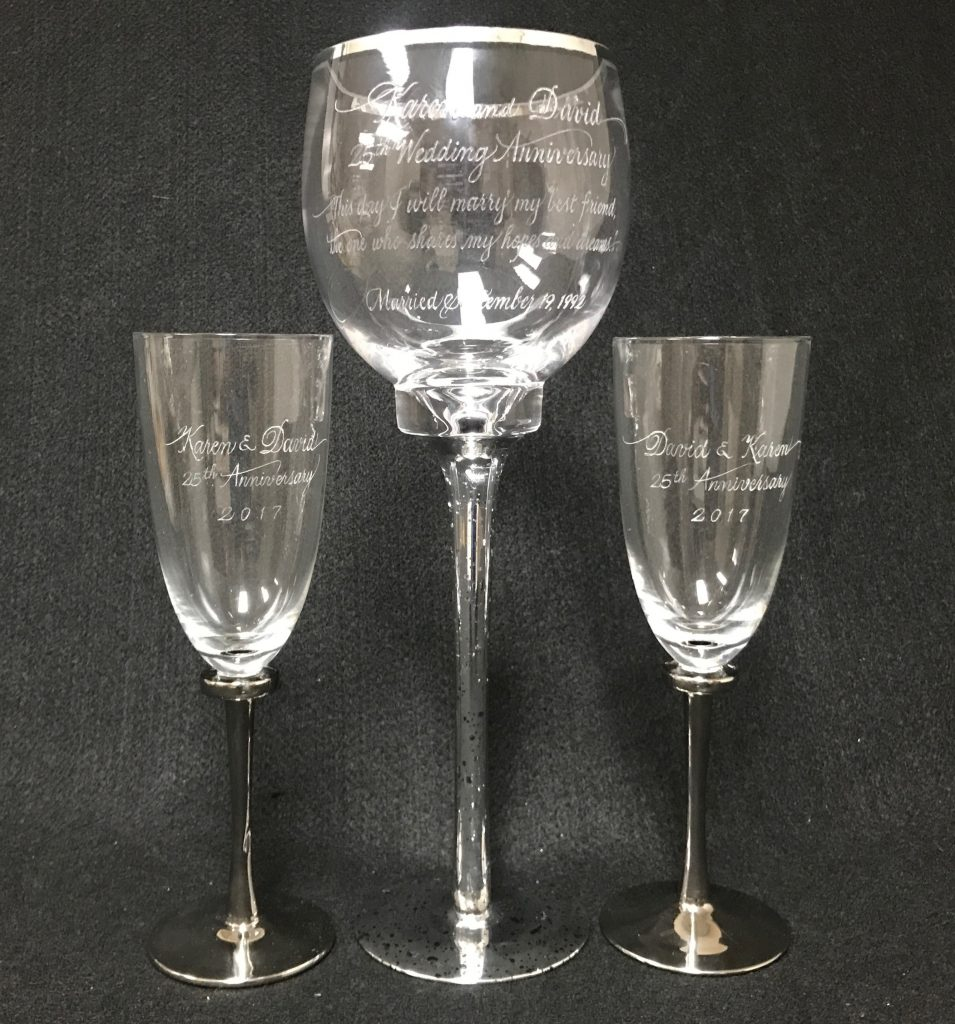 Calligraphy and engraving on glasses excellent
